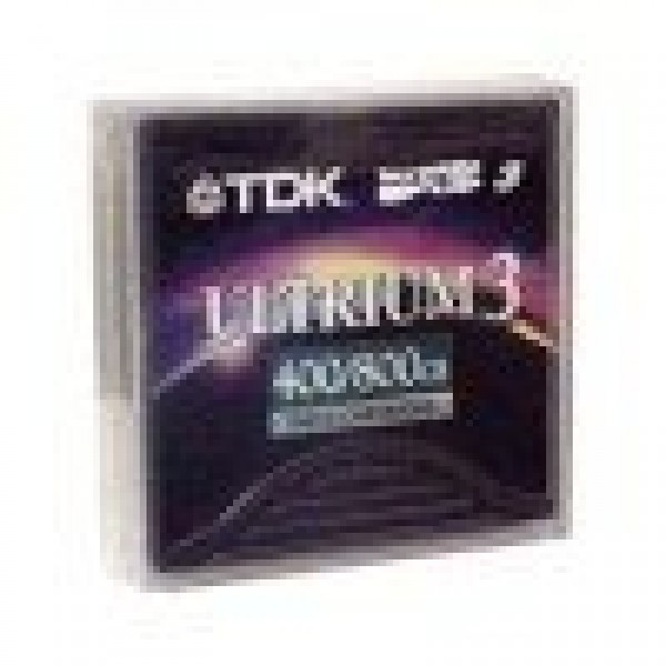 TDK D2406-LTO3-LBL LTO-3 Backup Tape Cartridge (400GB/800GB) Retail Pack w/ Barcode Labels