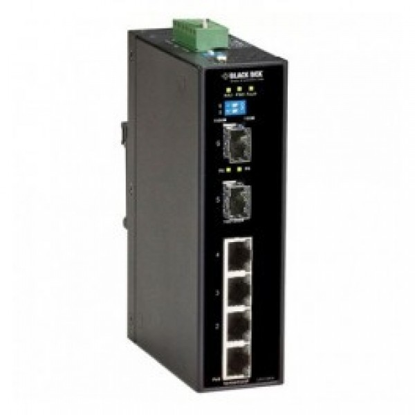 Black Box LPH1006A Industrial Ethernet PoE+ Switch