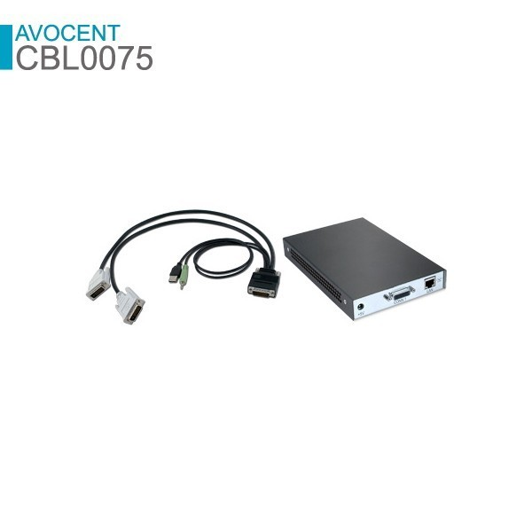 Avocent CBL0075 Pigtail cable to connect from HMIQSHDI to Target PC with 1x VGA and 1x DVI-D connector