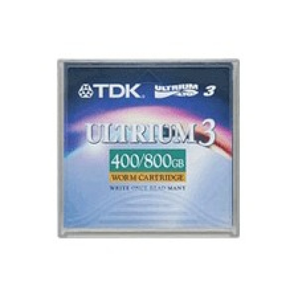TDK D2406W-LTO3 LTO-3 Backup WORM Tape Cartridge (400GB/800GB) Retail Pack