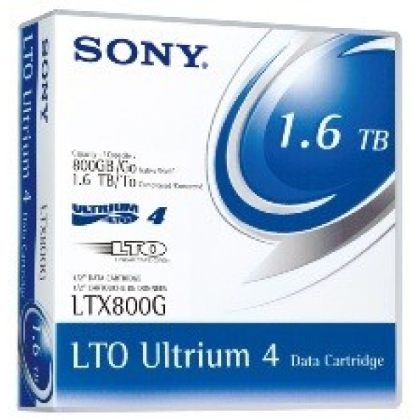 Sony LTX800G LTO-4 Backup Tape Cartridge (800GB/1.6TB) Retail Pack