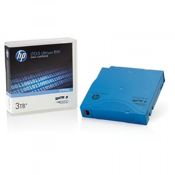 HP C7975AN LTO-5 Backup Tape Cartridge (1.5TB/3.0TB) Library Pack of 20 w/Barcode Labels