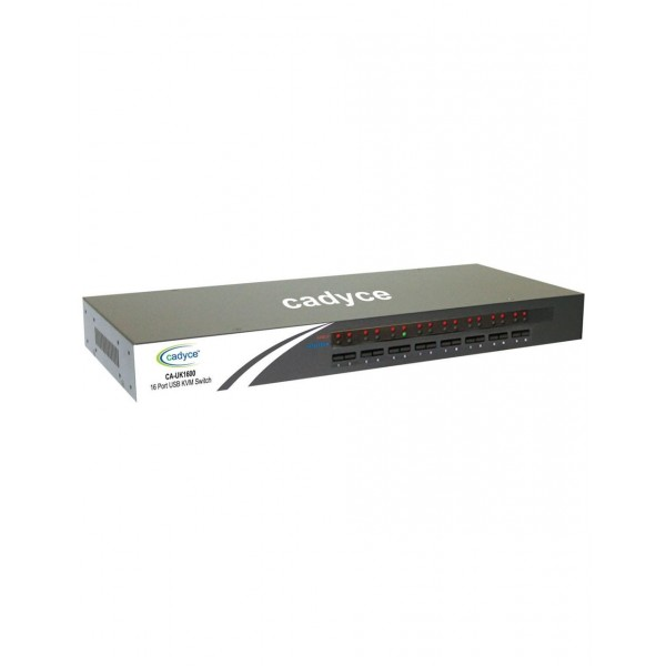 Cadyce CA-UK1600 16 Port USB KVM