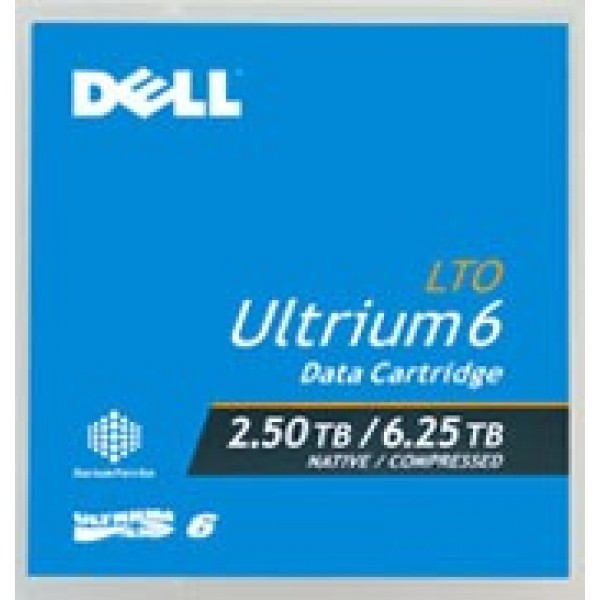 Dell LTO-6 Ultrium Tape Media 2.5TB/6.25TB 342-5450 (P/N 3W22T)