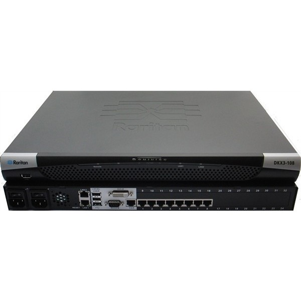 Raritan DKX3-108 8-port 1 User KVM-over-IP Switch