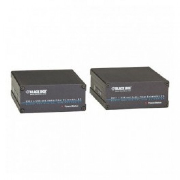 Black Box ACX310FIA ServSwitch Fiber DVI-D + USB Extenders, DVI, VGA, and Audio