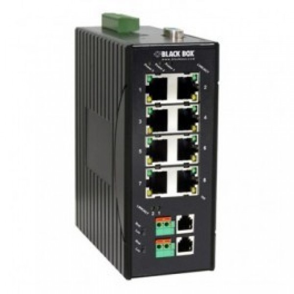 Black Box LB308A 10/100M Hardened Ethernet Extender/VDSL Switch, 8-Port