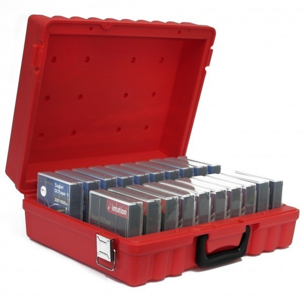 TURTLE 00-672801 DLT/SDLT Compatible Case (20 Capacity, Red)