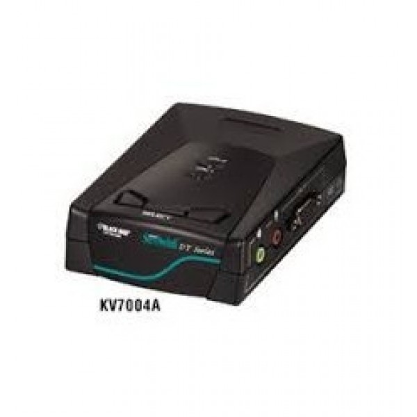 Black Box KV7004A ServSwitch DT Basic KVM Switch with Audio 2-Port