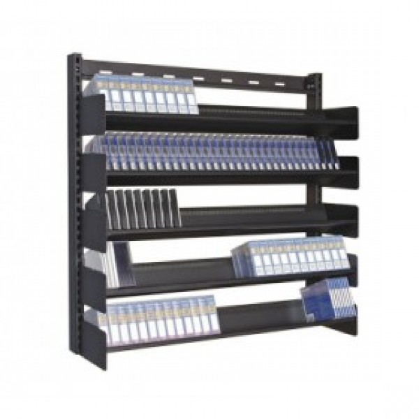 Turtle P048-00180 Wall Mounted Multi Media Rack - 5 Shelves