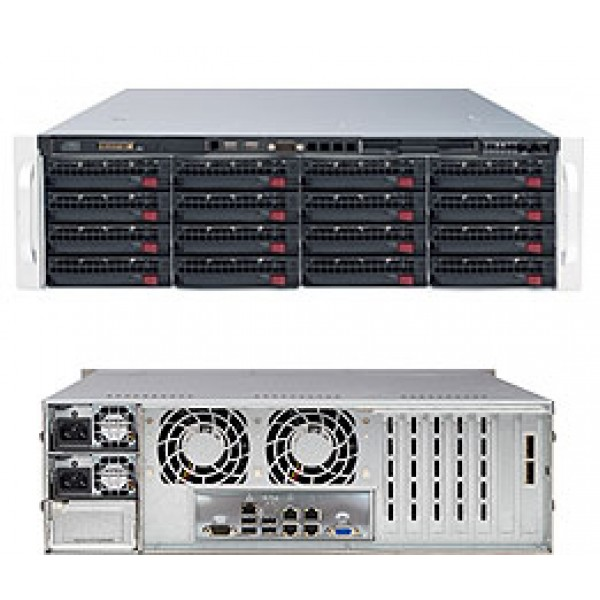 Supermicro E5-2600 + C600 Series based DP Xeon 3U 6037R-E1R16N SuperServer