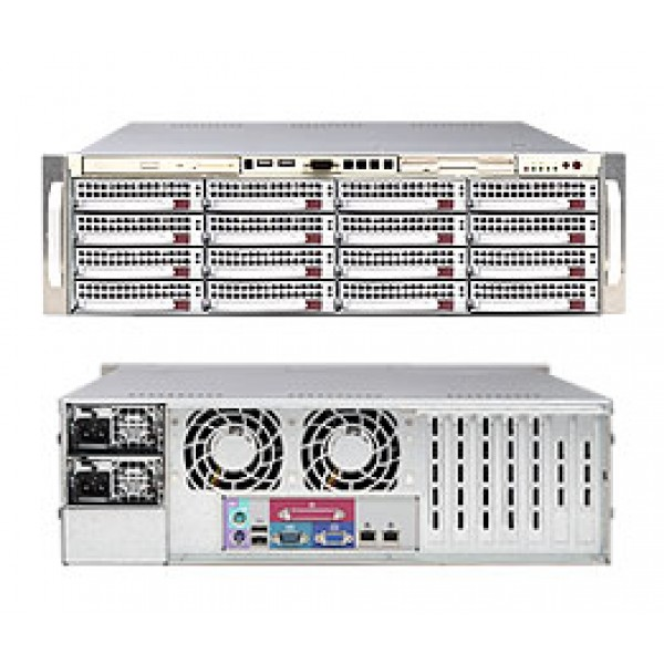 Supermicro 5000P (Blackford) DP Xeon 3U 6035B-8R+V SuperServer