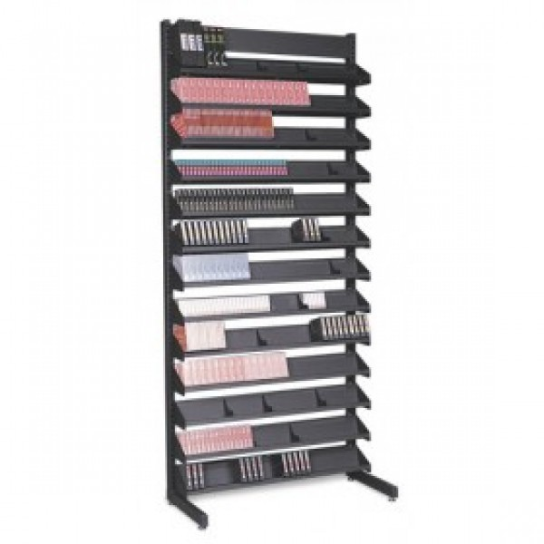 Turtle P048-00100 Single Sided - 12 Multi-Media Shelves